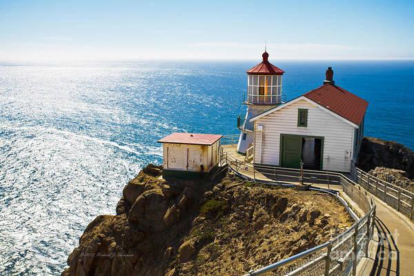 Photograph - Point Reyes Lighthouse by Richard J Thompson