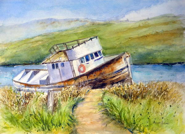 Painting - Point Reyes Relic by Anna Jacke