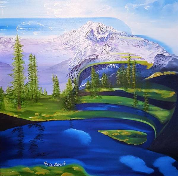 Mount Rainier Painting - Point Success by Roxane Gabriel