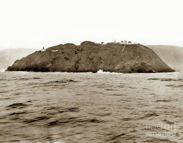 Photograph - Point Sur Light Station From The Ocean Feb. 21, 1935 by California Views Archives Mr Pat Hathaway Archives