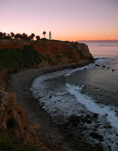 Point Vicente Wall Art - Photograph - Point Vicente Lighthouse At Sunrise by Dave Sribnik