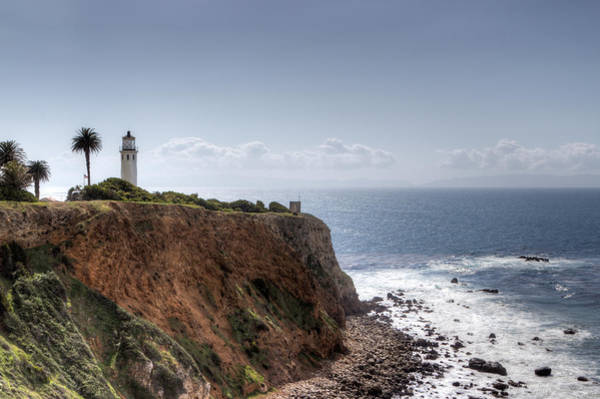 Point Vicente Wall Art - Photograph - Point Vicente Lighthouse In Winter by Heidi Smith
