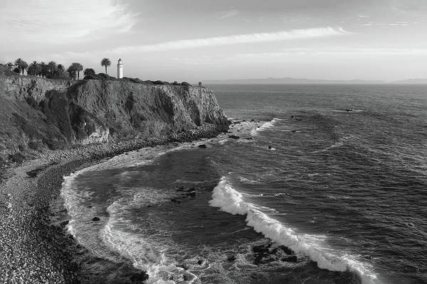 Point Vicente Wall Art - Photograph - Point Vicente Lighthouse Palos Verdes California - Black And White by Ram Vasudev