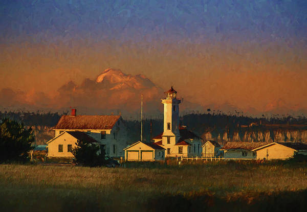 Port Townsend Painting - Point Wilson Light 6 by Mike Penney
