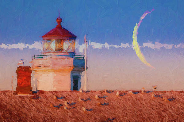 Port Townsend Painting - Point Wilson Light 7 by Mike Penney