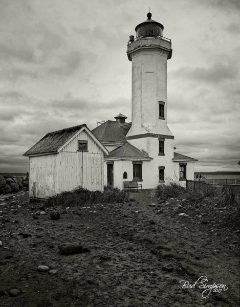 Photograph - Point Wilson Light by Bud Simpson