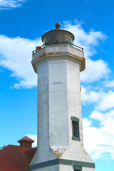 Photograph - Point Wilson Light Close Up by Dan Sproul