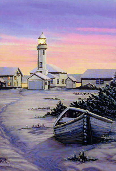 Port Townsend Painting - Point Wilson Snow 1995 by James Lyman