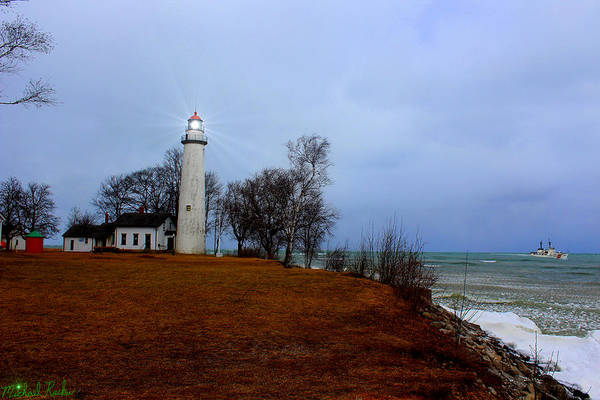 Michigan Wall Art - Photograph - Pointe Aux Barques Lighthouse by Michael Rucker
