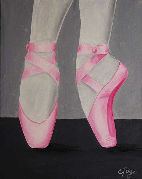Painting - Pointe Shoes by Emily Page