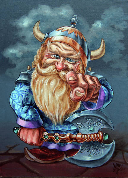 Painting - Pointing Gnome by Victor Molev