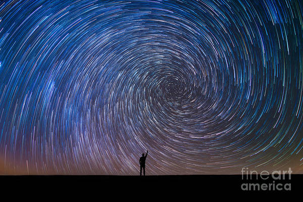 Star Trails Photograph - Pointing North  by Michael Ver Sprill