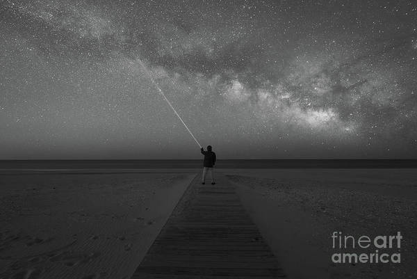 Photograph - Pointing To The Stars Bw by Michael Ver Sprill