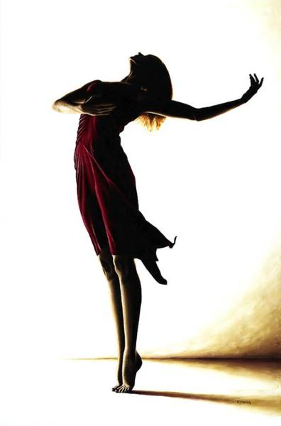 Dancers Wall Art - Painting - Poise In Silhouette by Richard Young