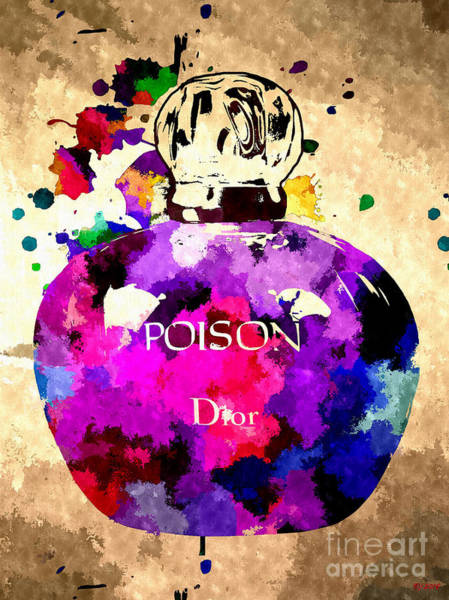 Poison Mixed Media - Poison Dior Colored by Daniel Janda