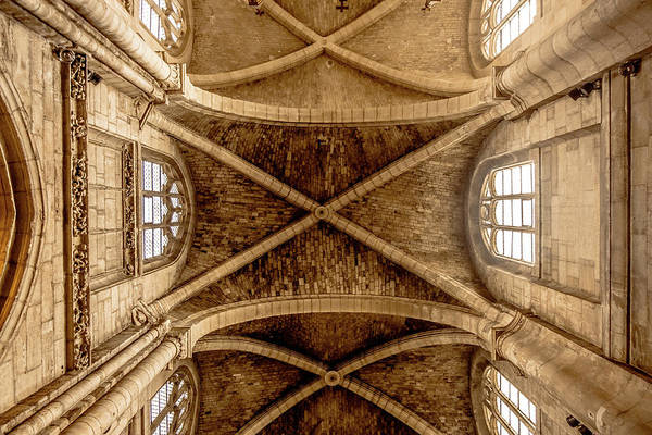 Photograph - Poissy, France - Ceiling, Notre-dame De Poissy by Mark Forte
