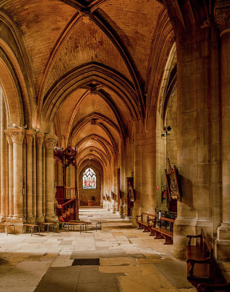 Photograph - Poissy, France - Side Aisle, Notre-dame De Poissy by Mark Forte