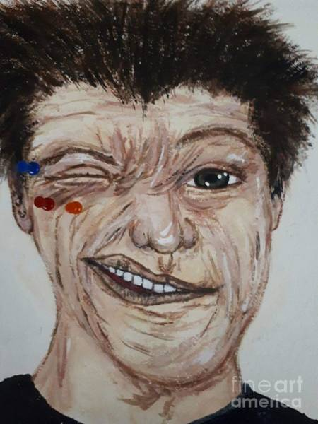 Pokes Wall Art - Painting - Poke Em Weird Guy by Lisa Koyle