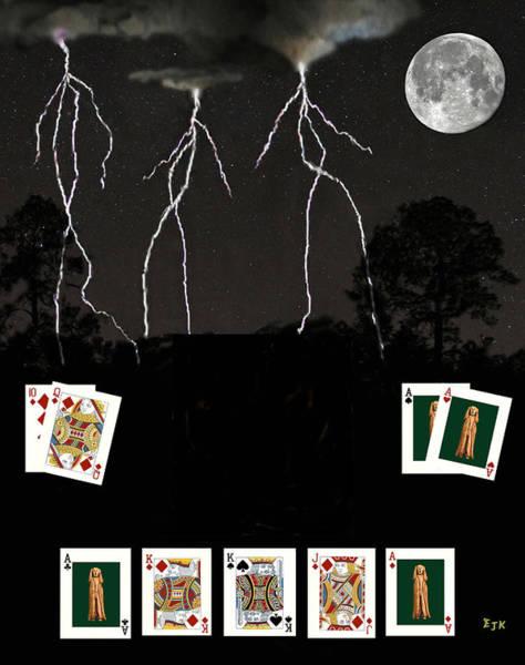 Macau Mixed Media - Poker Cards by Eric Kempson