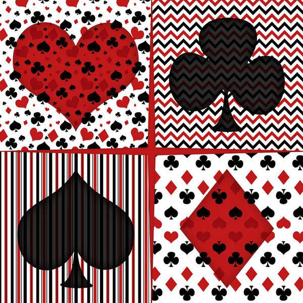 Playing Digital Art - Poker In Four by Flo Karp