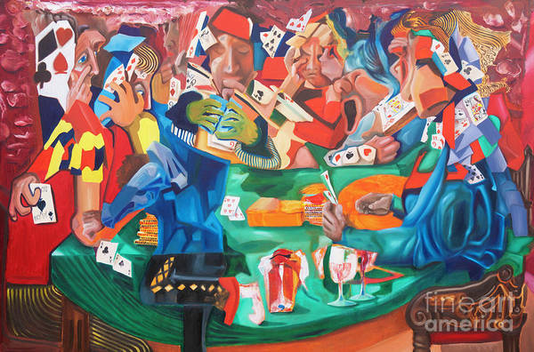 Painting - Poker Night by James Lavott