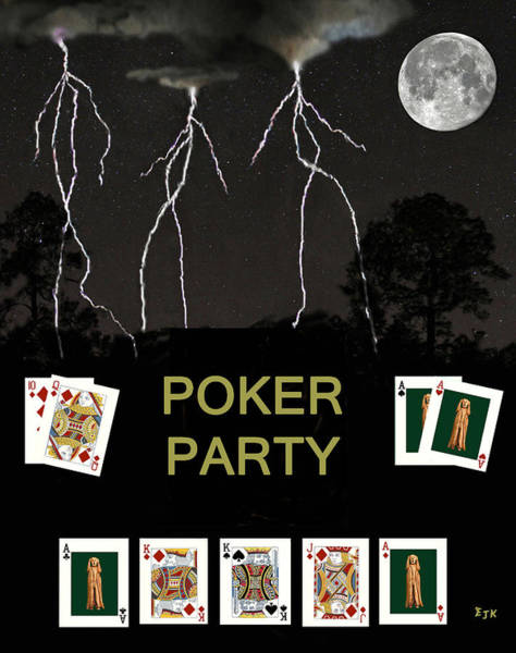 Macau Mixed Media - Poker Party  Poker Cards by Eric Kempson