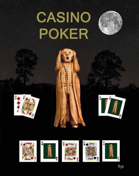 Macau Mixed Media - Poker Scream Casino Poker by Eric Kempson