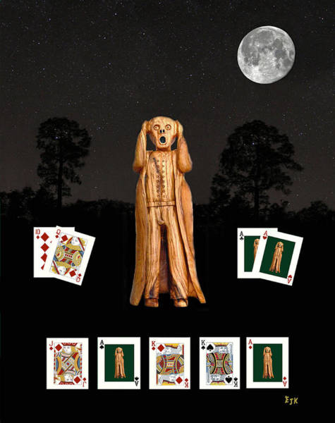 Mixed Media - Poker Scream by Eric Kempson