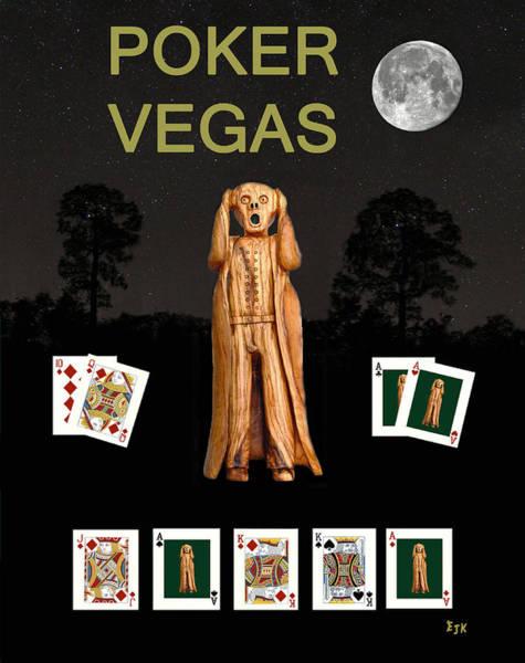 Macau Mixed Media - Poker Vegas Scream by Eric Kempson