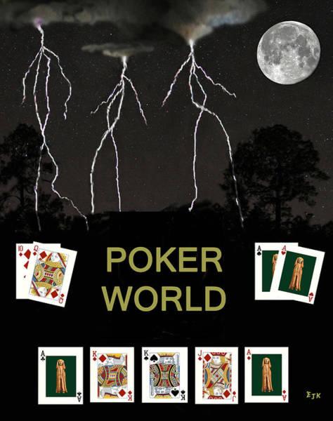 Macau Mixed Media - Poker World  Poker Cards by Eric Kempson