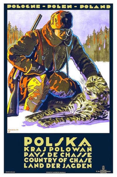 Poland Painting - Poland, Country Of Chase, Hunting Season, Winter, Travel Poster by Long Shot