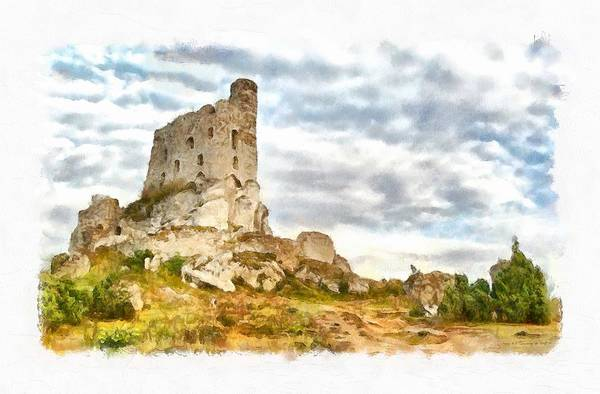 Priceless Painting - Mirow Castle Ruins In Poland by Maciek Froncisz