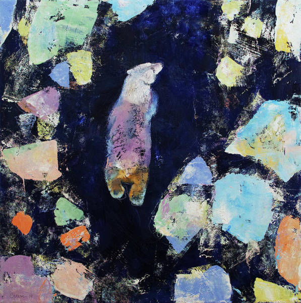 Wall Art - Painting - Polar Bear Journey by Michael Creese