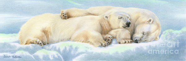 Snuggle Painting - Polar Bear Love by Sarah Batalka