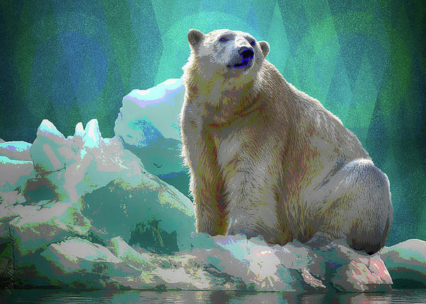 Digital Art - Polar Bear by Mimulux patricia No