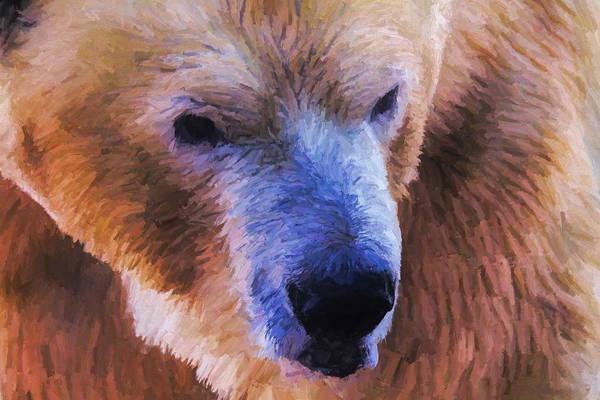 Painting - Polar Bear Oil by Dan Sproul