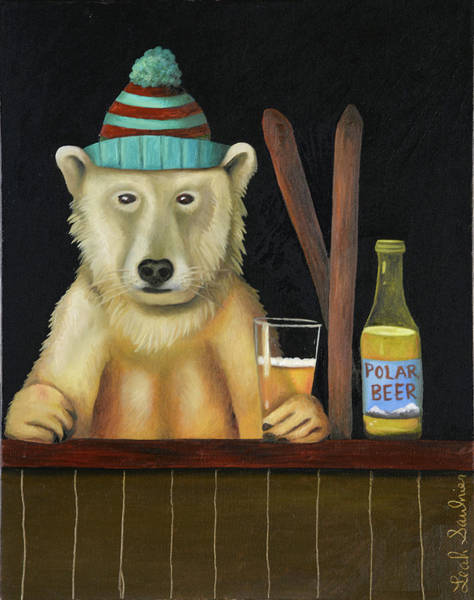 Painting - Polar Beer by Leah Saulnier The Painting Maniac