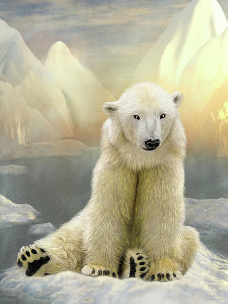 Mixed Media - Polar Cub by Carol Cavalaris