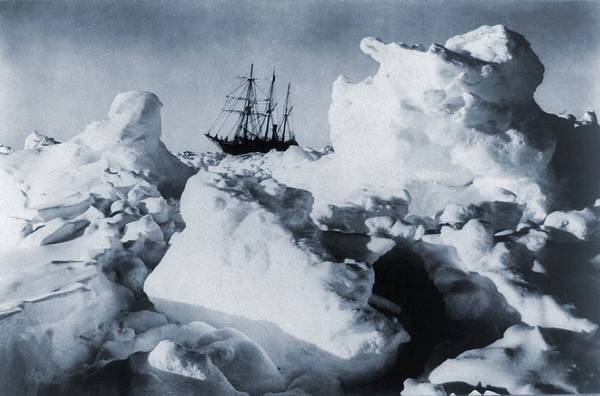 Desolation Photograph - Polar Explorer, Ernest Shackletons by Everett