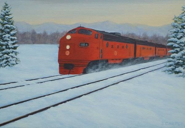 Diesel Trains Painting - Polar Express  Carter by John Carter