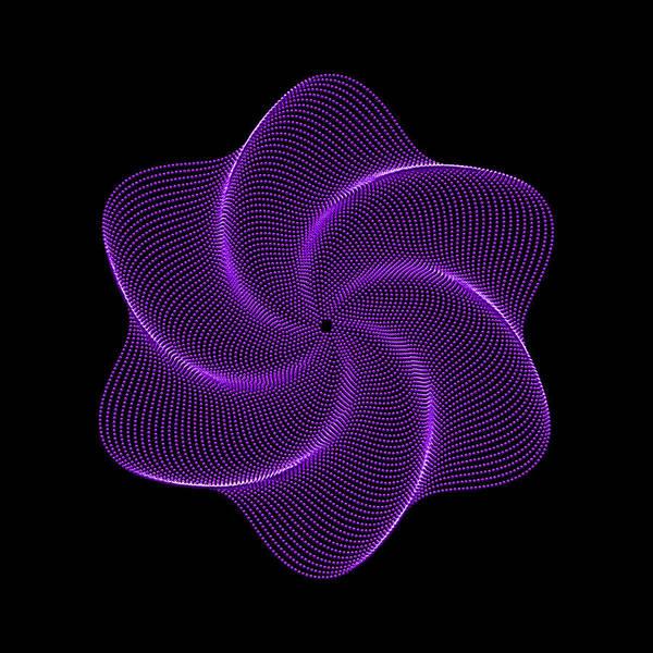 Digital Art - Polar Flower Vib by Robert Krawczyk