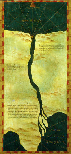 Wall Art - Painting - Polar Lands Imagined On Top Of Siberia by Italian painter of the 16th century