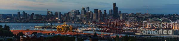 Petroleum Wall Art - Photograph - Polar Pioneer Docked In Seattle by Mike Reid