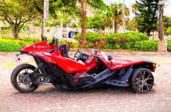 Photograph - Polaris Slingshot Sl Tricycle by Les Palenik