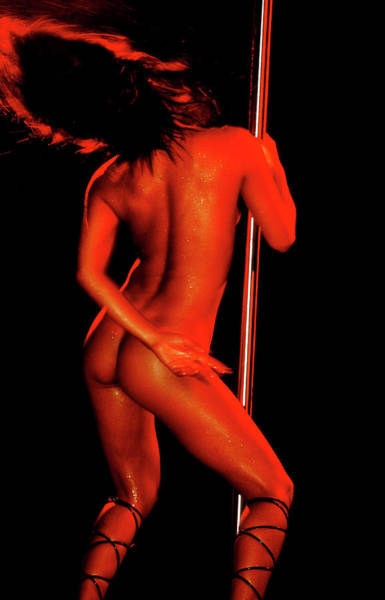 Moberly Photograph - Pole Dancer by Guy Moberly