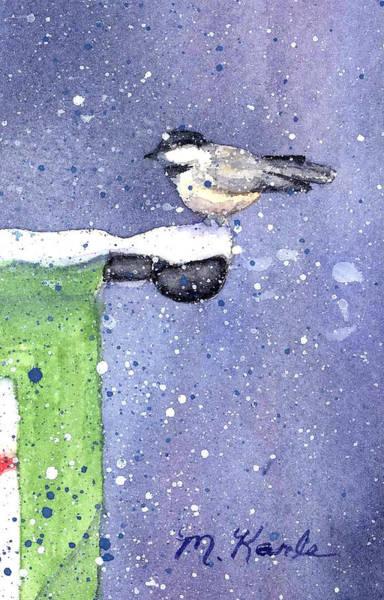 Painting - Pole Sitter - Chickadee by Marsha Karle