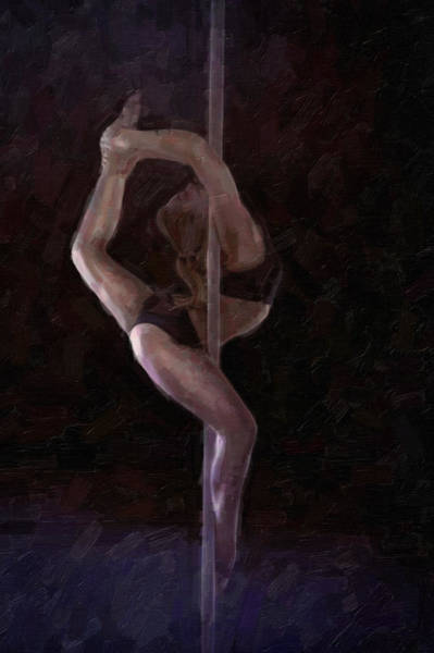 Fitness Mixed Media - The Pole Dance by Tilly Williams