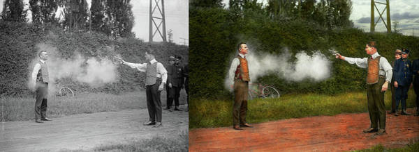 Photograph - Police - A Real Dummy 1923 - Side By Side by Mike Savad