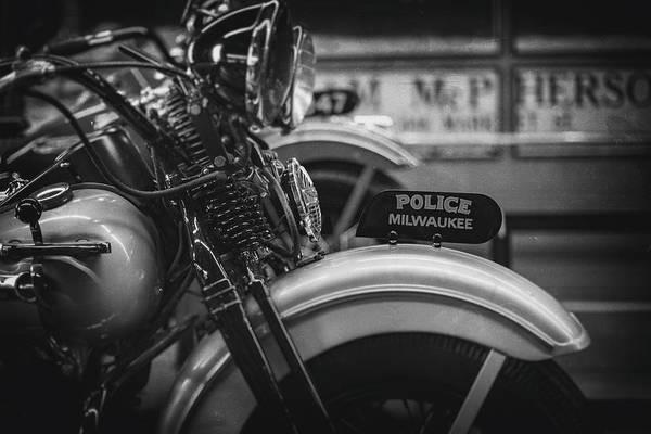 Mke Photograph - Police Milwaukee by CJ Schmit