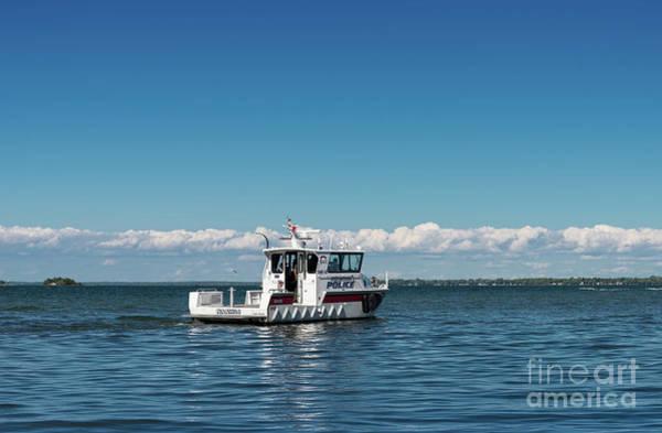 Photograph - Police Patrol Boat by Les Palenik
